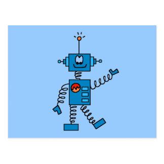 Camisetas y regalos azules del robot postales