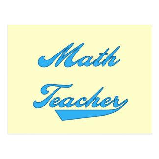 Camisetas y regalos azules del texto del profesor postales