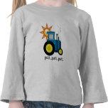 Camisetas y regalos azules del tractor del putt