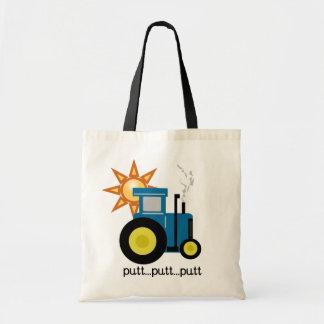 Camisetas y regalos azules del tractor del putt de bolsa tela barata