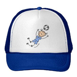Camisetas y regalos azules del uniforme del fútbol gorro