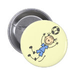 Camisetas y regalos azules del uniforme del fútbol pins
