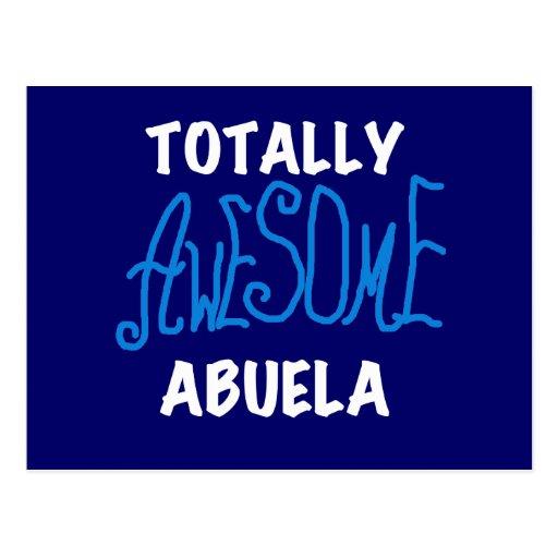 Camisetas y regalos azules totalmente tarjeta postal