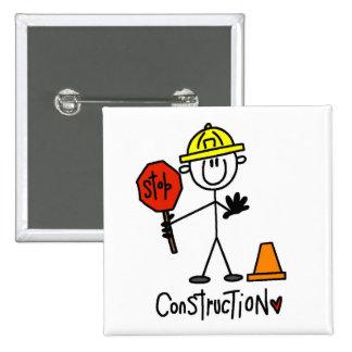 Camisetas y regalos básicos de la construcción pins