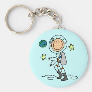 Camisetas y regalos básicos del astronauta llavero redondo tipo pin