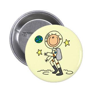 Camisetas y regalos básicos del astronauta pin redondo de 2 pulgadas