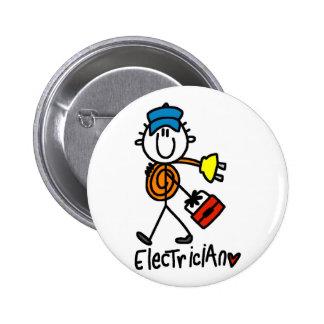 Camisetas y regalos básicos del electricista pin