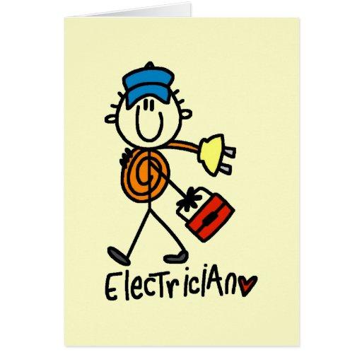 Camisetas y regalos básicos del electricista felicitación