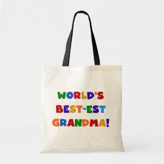 Camisetas y regalos brillantes de la abuela del Me Bolsa Tela Barata