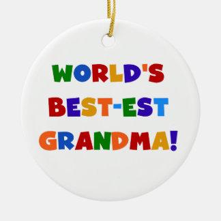 Camisetas y regalos brillantes de la abuela del Me Ornamento Para Arbol De Navidad