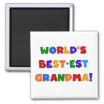Camisetas y regalos brillantes de la abuela del Me Imanes