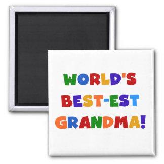 Camisetas y regalos brillantes de la abuela del Me Imán Cuadrado