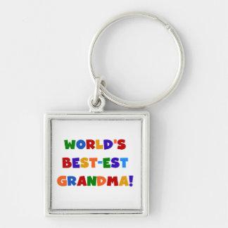 Camisetas y regalos brillantes de la abuela del Me Llavero Cuadrado Plateado