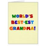 Camisetas y regalos brillantes de la abuela del Me Tarjeton