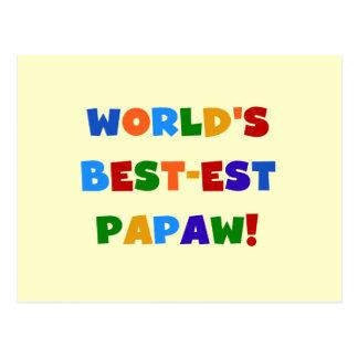 Camisetas y regalos brillantes del Papaw del Postal