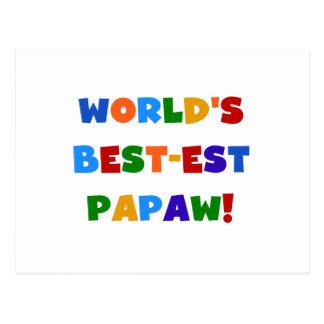 Camisetas y regalos brillantes del Papaw del Tarjeta Postal