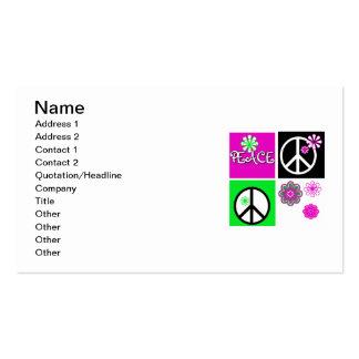 Camisetas y regalos calientes de la paz de los tarjetas de visita