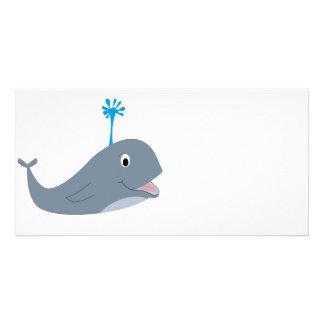 Camisetas y regalos caprichosos de la ballena del  tarjetas fotográficas personalizadas
