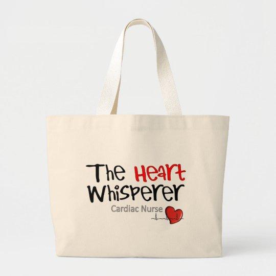 Camisetas y regalos cardiacos de la enfermera bolsa de tela grande