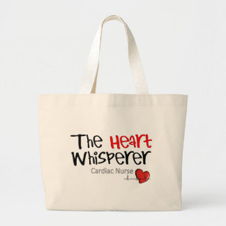 Camisetas y regalos cardiacos de la enfermera bolsa tela grande