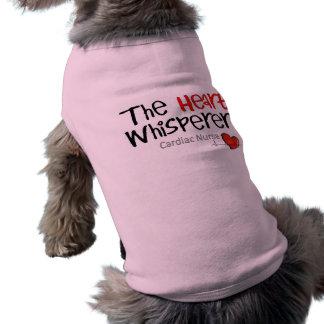 Camisetas y regalos cardiacos de la enfermera playera sin mangas para perro