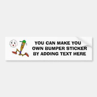 Camisetas y regalos chistosos del béisbol pegatina de parachoque