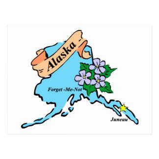 Camisetas y regalos coloridos del mapa de Alaska Postal