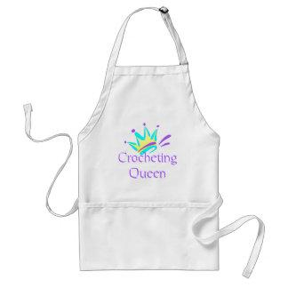 Camisetas y regalos Crocheting de la reina Delantal