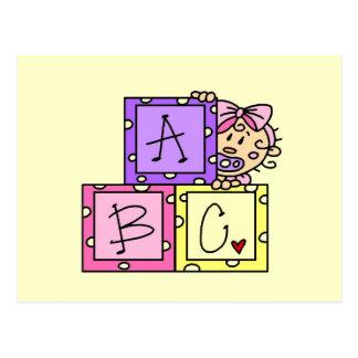 Camisetas y regalos de ABC del bebé Postal