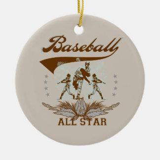 Camisetas y regalos de All Star del béisbol de Adorno Navideño Redondo De Cerámica