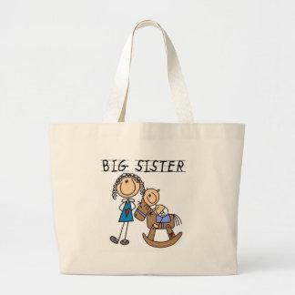 Camisetas y regalos de Brother del bebé de la herm Bolsa Tela Grande