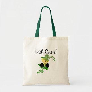 Camisetas y regalos de Cutie del irlandés del Lepr Bolsa Tela Barata