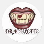 Camisetas y regalos de Draculette Pegatina Redonda
