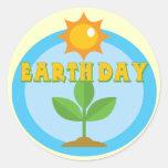 Camisetas y regalos de Earthday Pegatina Redonda