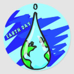Camisetas y regalos de Earthday Pegatinas Redondas