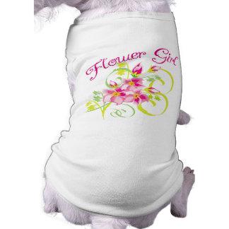 Camisetas y regalos de Flowergirl del paraíso Ropa De Mascota