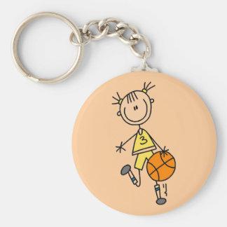 Camisetas y regalos de goteo del baloncesto del ch llavero redondo tipo pin