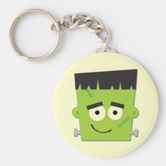 Camisetas y regalos de Halloween Frankenstein Llavero Redondo Tipo Pin