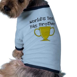 Camisetas y regalos de hermano mayor del campeón camiseta con mangas para perro