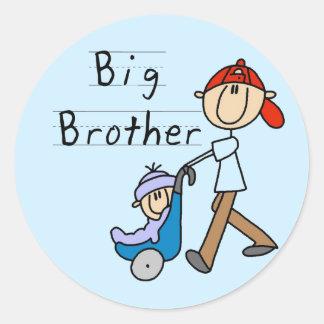 Camisetas y regalos de hermano mayor del carro pegatinas redondas