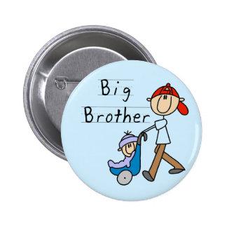Camisetas y regalos de hermano mayor del carro pin redondo de 2 pulgadas