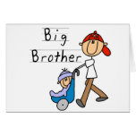 Camisetas y regalos de hermano mayor del carro tarjeta