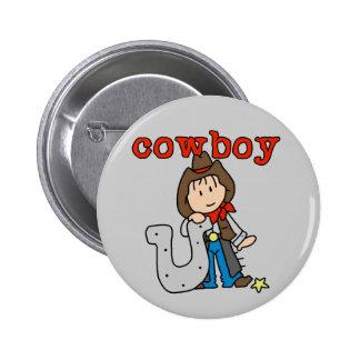 Camisetas y regalos de herradura del vaquero pin redondo 5 cm
