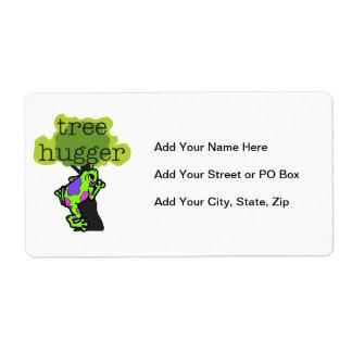 Camisetas y regalos de Hugger del árbol de la rana Etiquetas De Envío