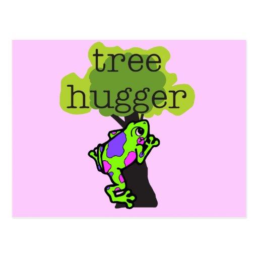 Camisetas y regalos de Hugger del árbol de la rana Tarjetas Postales