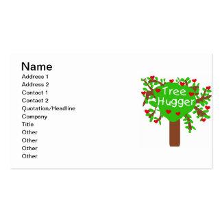 Camisetas y regalos de Hugger del árbol Tarjetas De Visita