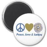 Camisetas y regalos de Jánuca de la paz, del amor  Iman De Nevera