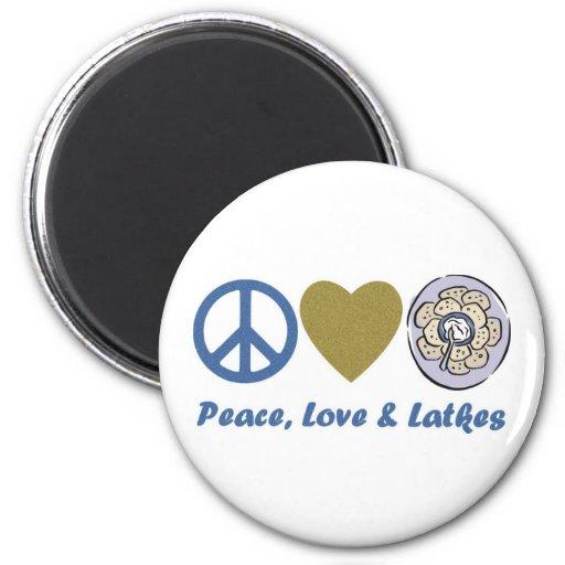Camisetas y regalos de Jánuca de la paz, del amor  Imán Redondo 5 Cm