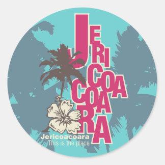 Camisetas y regalos de Jericoacoara Pegatina Redonda