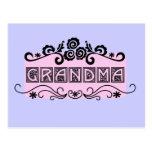 Camisetas y regalos de la abuela del letrero postal